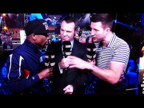 Froch : Floyd did you know I Knocked out George Groves?