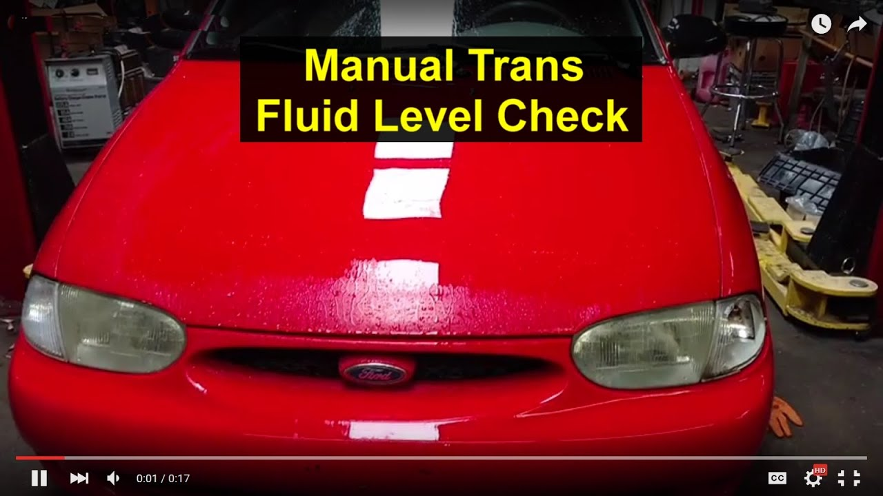 manual transmission fluid level check 1997 ford aspire festiva