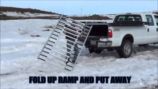 Loading Snowmobiles On An X Truck Deck Sled Deck