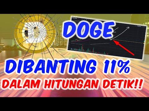 Doge Tiba-tiba Dibanting Sampai 11% Dalam Hitungan Detik!!!
