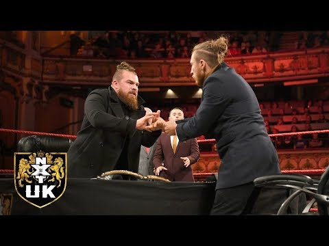 Dunne stands face-to-face with Coffey WWE UK Title Contract Signing: NXT UK, Jan. 2, 2019