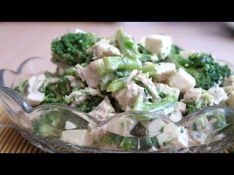 Салат с брокколи и отварной курицей Без майонеза Вкусно и полезно