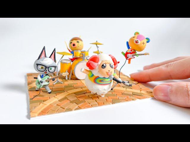 【粘土】どうぶつの森バンド 作ってみた【あつ森】 - Animal Crossing Band Polymer Clay