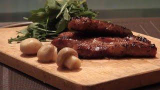 Рецепт: Эскалоп в соево-медовом маринаде