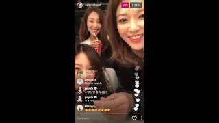 Tiffany second live IG story of the day with SNSD members. Yuri spa...