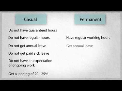 Employment Law In WA: 3. Casual And Permanent Employees