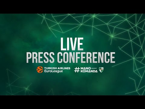 EuroLeague: Žalgiris – Crvena Zvezda press conference