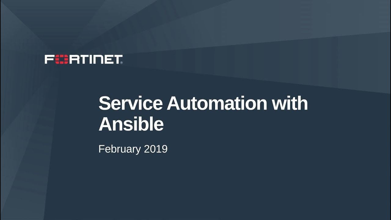 Service Automation with Ansible in FortiGate