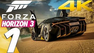 Forza Horizon 3 - Gameplay Walkthrough Part 1 - Prologue & Review [4K 60FPS ULTRA] PC, Xbox One X