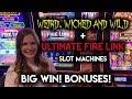 ULTIMATE Fire Link BIG WIN! Weird Wicked and Wild Slot Machine BONUS!