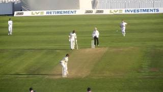 Tom Abell backfoot cover drive Somerset CCC vs Hampshire CCC
