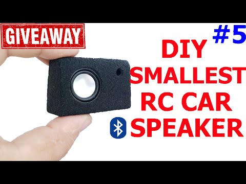 DIY The Smallest RC Car Bluetooth Subwoofer V.5 |RC Car SUB|GIVEAWAY