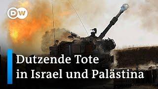 Raketen auf Israel - Luftschläge auf Gaza | DW Nachrichten