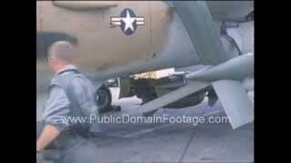 F-105 Fighter Jets in Vietnam 1967 Raw Archival Stock Footage Scene 6 PublicDomainFootage.com