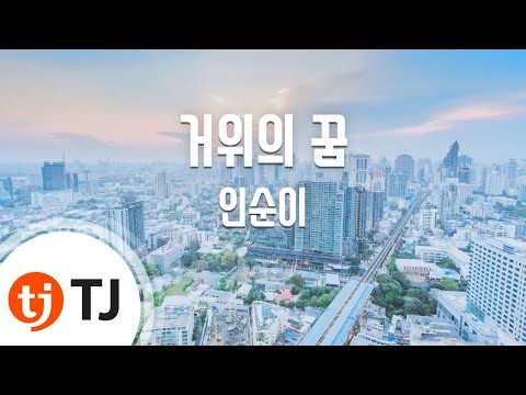 A Goose's Dream  거위의꿈_In Sooni 인순이_TJ노래방 (Karaoke/lyrics/romanization/KOREAN)