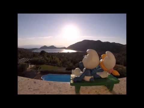 Smurfs love at sunset - Schtroumpfs amoureux au coucher du soleil - Timelapse