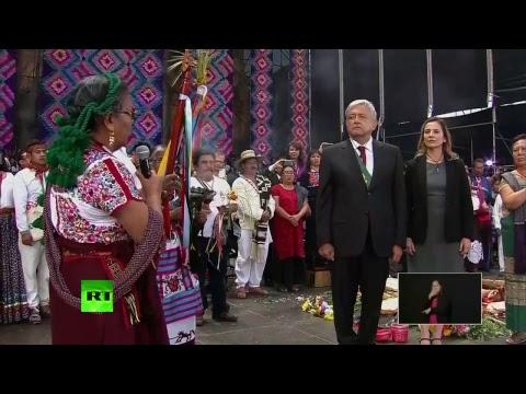 Andrés Manuel López Obrador se dirige a los mexicanos en el Zócalo