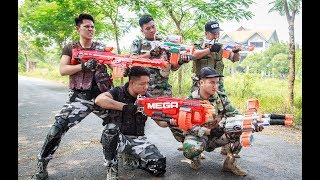 LTT Game Nerf War : Winter Warriors SEAL X Nerf Guns Fight Criminal Group Escape Spectacular