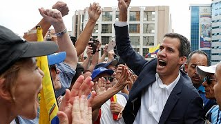 Venezuelan opposition leader Juan Guaido declares himself interim president