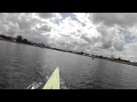 Rowing Down the Course at Eton