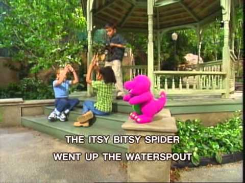 Barney - Itsy-Bitsy Spider Song Travel Video