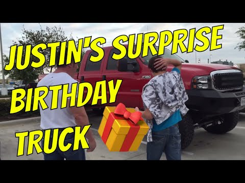 Justin's surprise birthday gift!