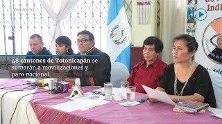 48 cantones de Totonicapán se sumarán a paro nacional | Prensa Libre