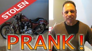 STEALING MY DADS MOTORCYCLE PRANK! - PRANKS
