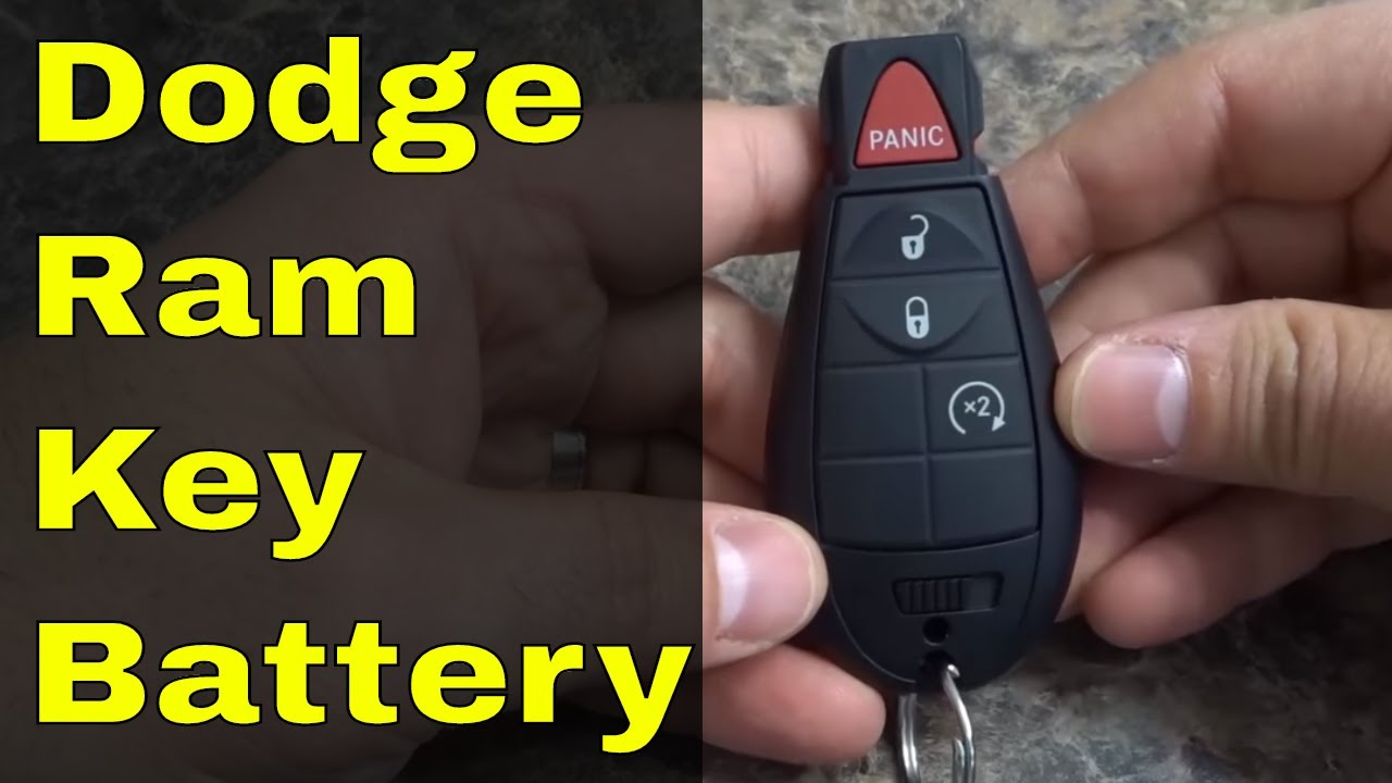 How To Replace Dodge Ram Key Fob Battery Youtube