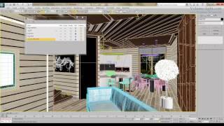 Уроки 3d max. Работа со слоями. Курс интерьерной коммерческой визуализации