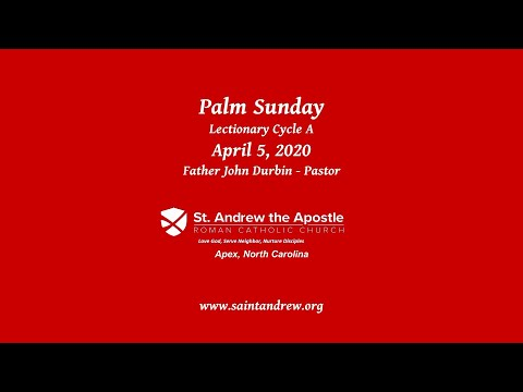 Palm Sunday at St Andrew the Apostle Church Apex, NC