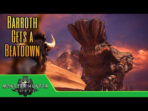 Monster Hunter World - Barroth Bashing in the Wildspire Wastes! Ep.3 thumbnail