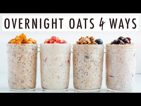 Dessert Inspired Overnight Oats with Summer Fruit | 4 Ways