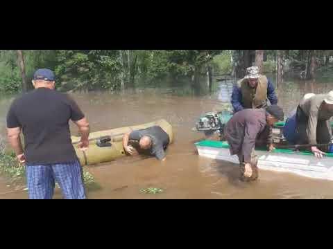Эвакуация жителей Бирюсы