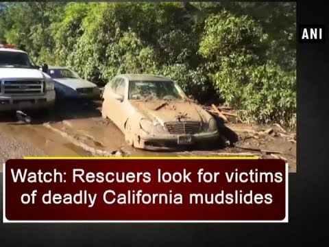 Watch: Rescuers look for victims of deadly California mudslides - ANI News