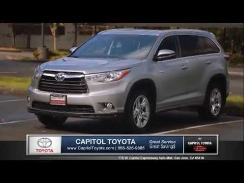 Toyota Highlander SUV Capitol Toyota San Jose Auto Mall Bay Area Auto  Dealership