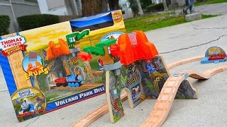 Thomas And Friends Volcano Park Deluxe Set 2015 Wooden Railway Toy Train Review By Mattel