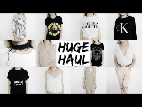HUGE BACK TO SCHOOL TRY ON HAUL | Brandy Melville, Topshop, Missguided, UO, Calvin Klein
