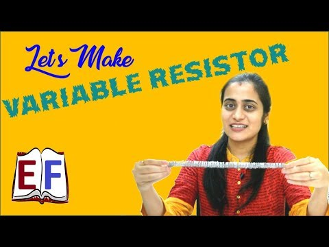 Make your own Variable resistor : School Science Physics Experiment