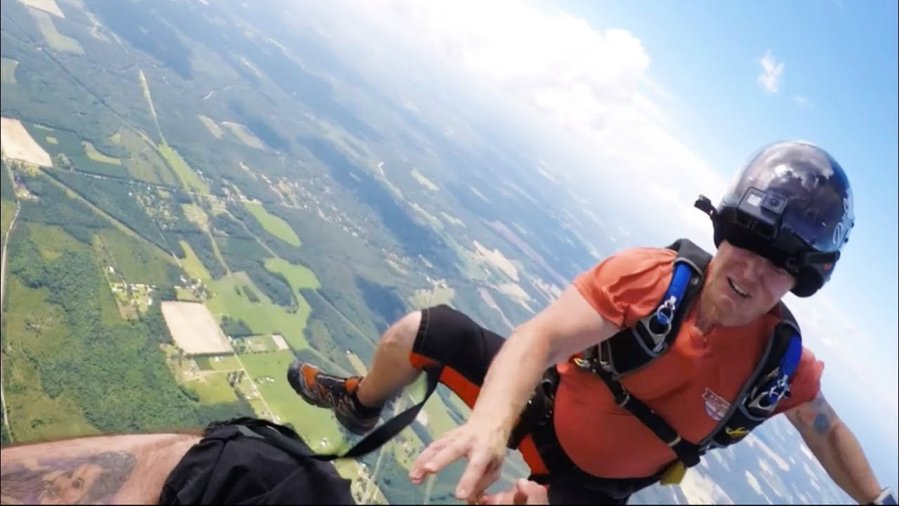 Friday Freakout Skydiver Catches Helmet Before It Flies Off His Head Youtube