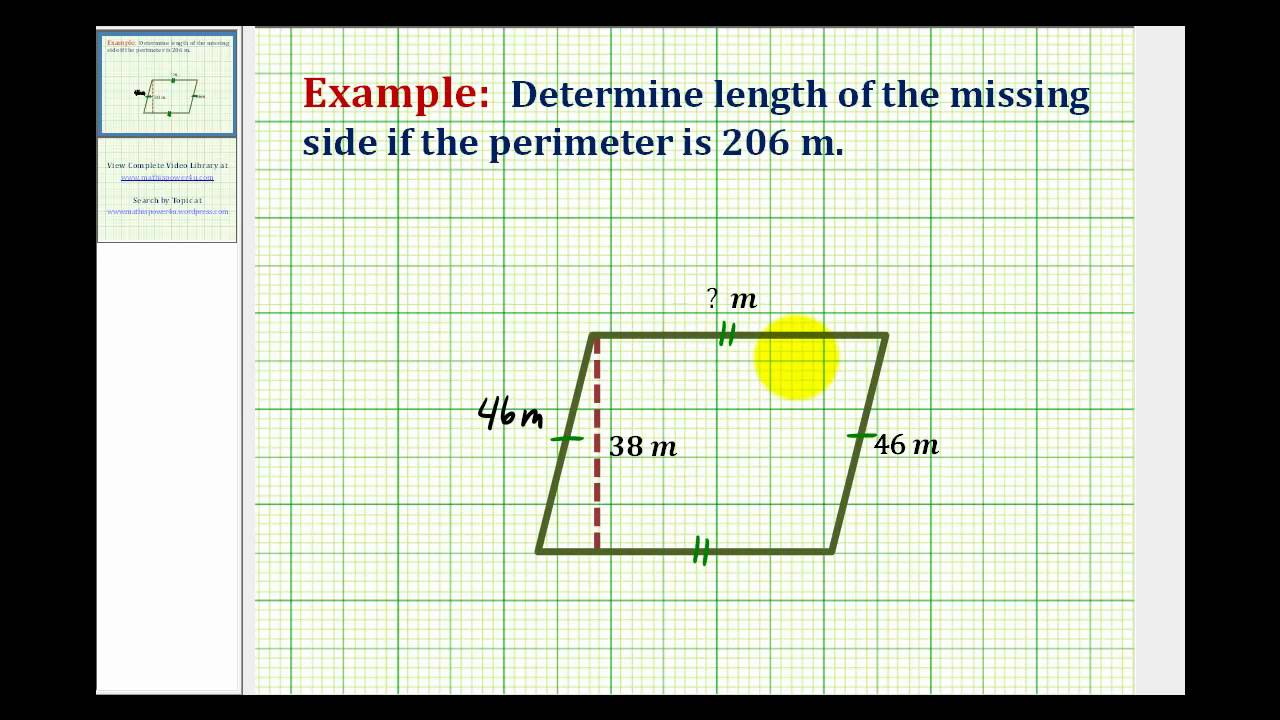 Ex determine the length of a missing side given the perimeter ex determine the length of a missing side given the perimeter ccuart Image collections