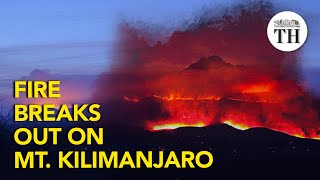 Fire breaks out on Mount Kilimanjaro in Africa
