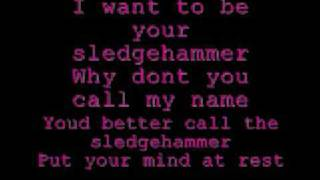 Peter Gabriel - Sledgehammer lyrics