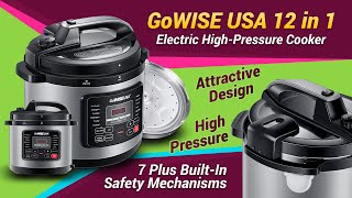 GoWISE USA 12 in 1 Electric High-Pressure Cooker