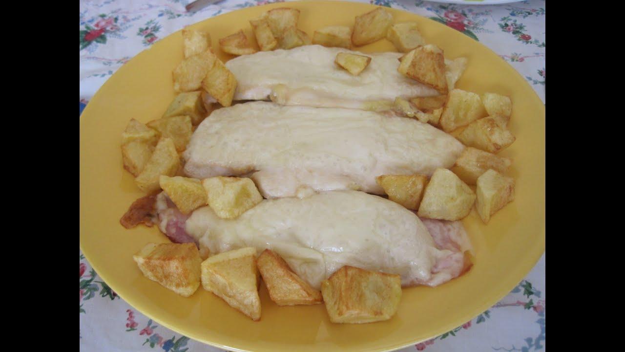 Pechugas de pollo al horno con bacon y queso youtube - Pechugas de pollo al horno ...