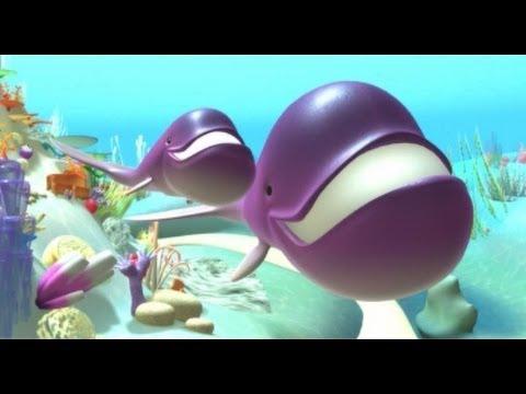 Alex - La ballena, aprender los animales marinos - Vídeos de dibujos infantiles educativos