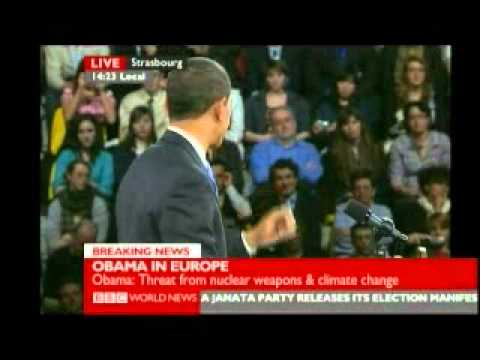 Obama in Europe Meets the People 1 of 5 - BBC World News Report