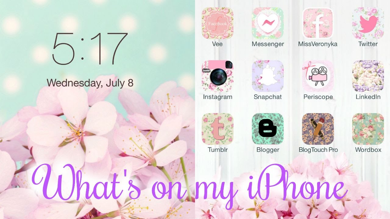 Whats On My IPhone 2015 Shabby Chic Theme