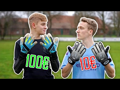10€ Torwart Handschuhe VS. 100€ Torwart Handschuhe
