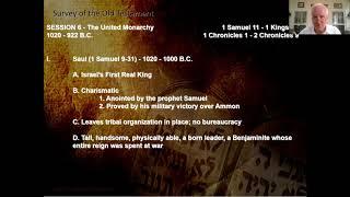 Bible Survey Class - Session 6